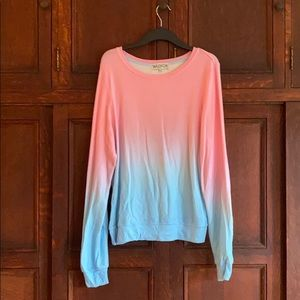 Wildfox NWOT OMBRÉ BAGGY BEACH JUMPER